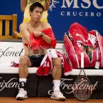 kei nishikori shirtless for barcelona open 2015