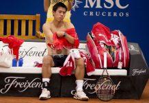 kei nishikori shirtless for barcelona open 2015