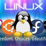 linux logo against microsoft 2015