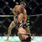 luke rockhold turns lyoto machida upside down for ufc fight night 2015