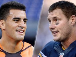 marcus mariota with philip rivers for tennessee titans 2015 nflmarcus mariota with philip rivers for tennessee titans 2015 nfl