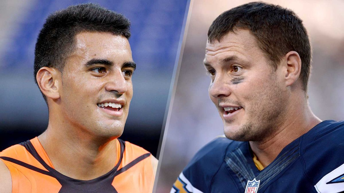 marcus mariota with philip rivers for tennessee titans 2015 nfl