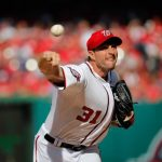 max scherzer throwing balls for nationals mlb baseball 2015