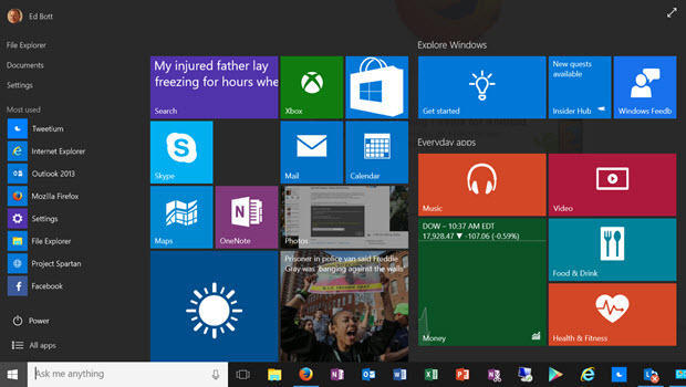 microsoft windows 10 build 10074 fixes bugs and brings back aero glass