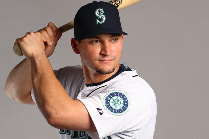 mike zunino catches for seattle mariners 2015 cactus league