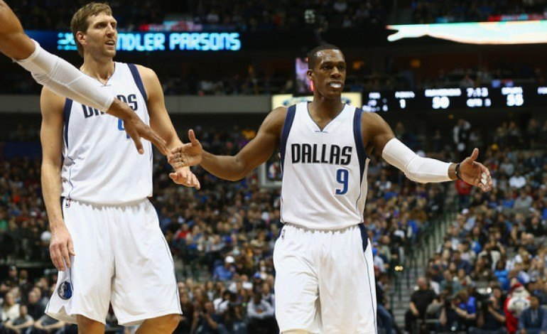 monta ellis with rajon rondo on dallas mavericks 2015