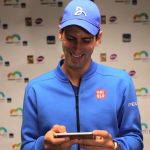 novak djokovic laughing at boris becker shoesless 2015
