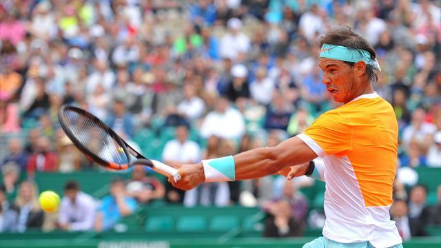 rafael nadal returning to novak djokovic 2015 monte carlo masters