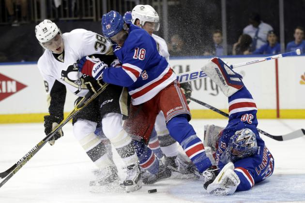 rangers beats penguins stanley cup playoffs 2015 nhl