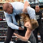 ronda rousey with dwayne johnson bulge shots 2015