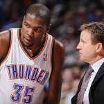 scott brooks with kevin durant