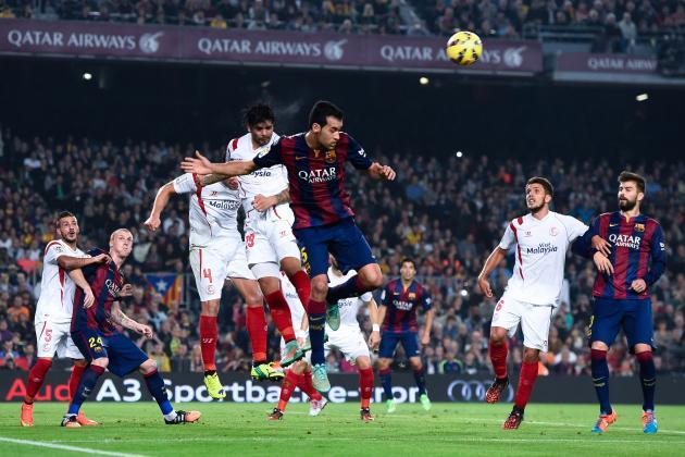 sevilla draws with barcelona la liga week 31 recap 2015
