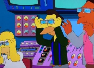 simpsons working google glass 2015