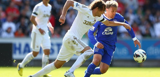 swansea city draws with everton premier league soccer 2015 images