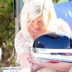 tori speling burn from hibachi grill 2015 gossip