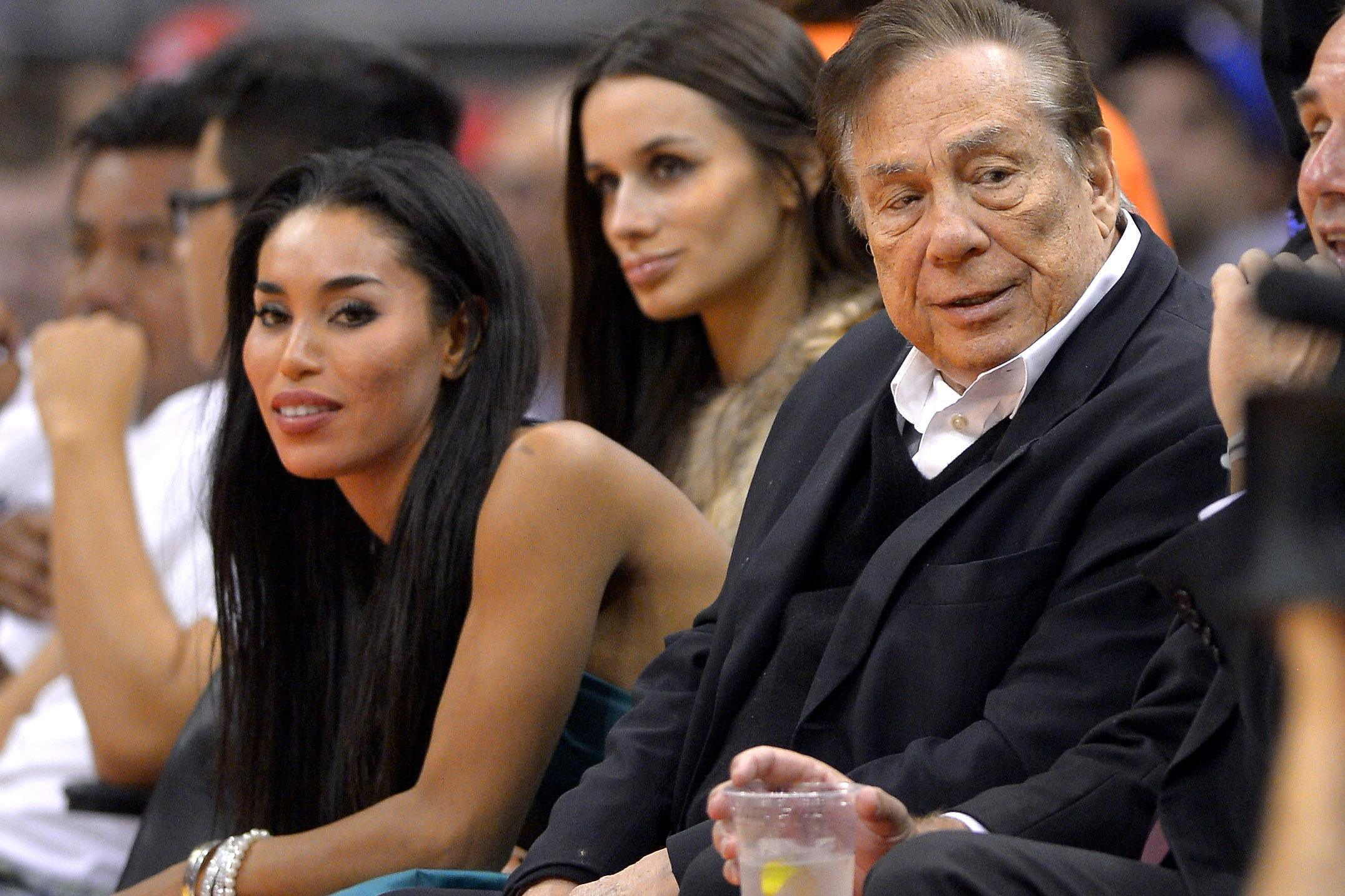 v stiviano with donald sterling clippers game 2015