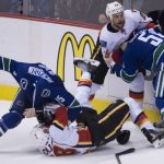 vancouver canucks beats calgary flames 2015 nhl stanley cup playoffs