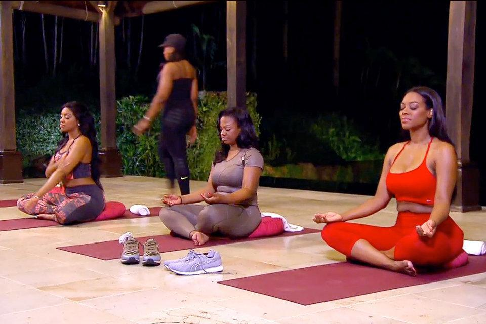 yoga time for real housewives of atlanta 2015
