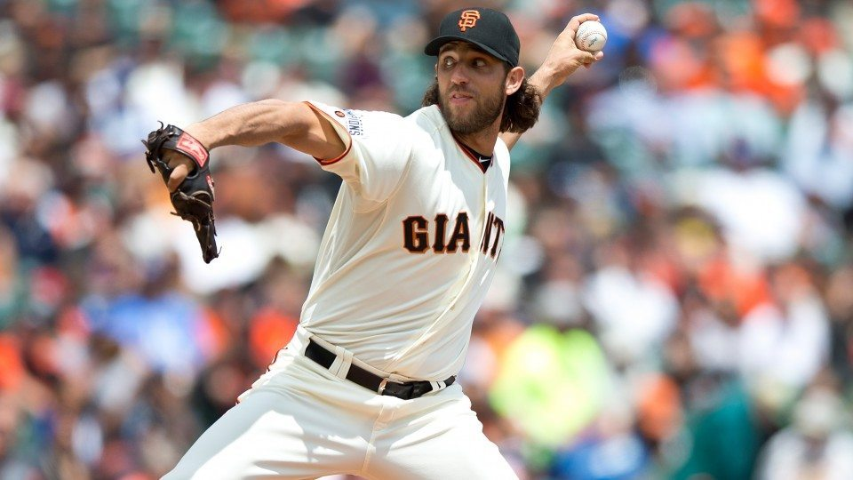 Madison Bumgarner hot top man for giants national league mlb 2015