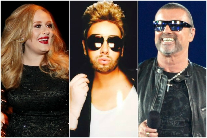 adele does george michael for birthday 2015