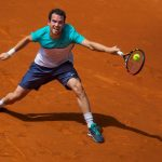 adrian mannarino struggles with john isner at madrid open 2015