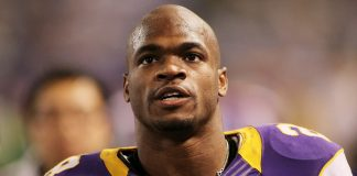 adrian peterson speaks briefly about vikings 2015