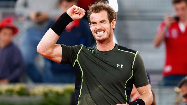 andy murray beats kei nishikori 2015 madrid open