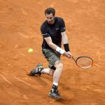 andy murray returning to milos raonic 2015 madrid open