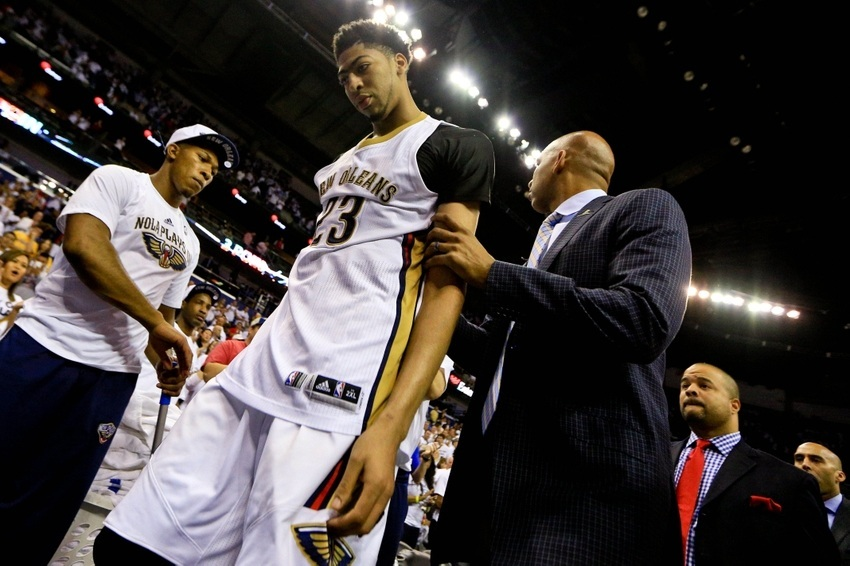anthony davis with coach monty williams pelicans 2015