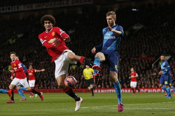 arsenal gunners vs manchester united premier league 2015
