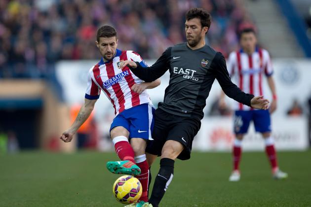 atletico madrid draws with levante la liga soccer 2015