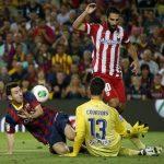 barcelona beats atletico madrid la liga 2015 images