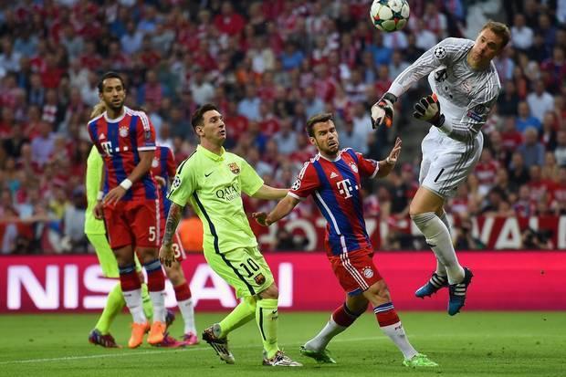 bayern munich beats barcelona soccer 2015