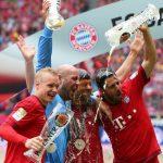 bayern munich win third bundesliga trophy 2015 images