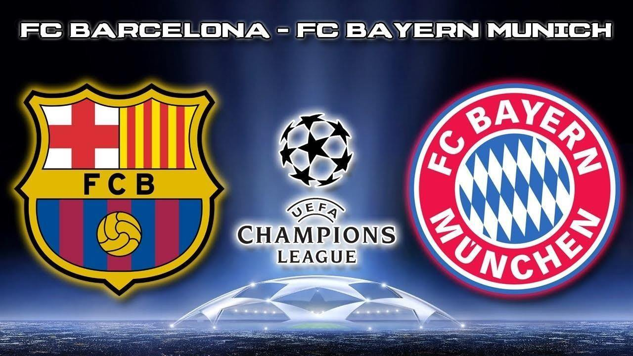 bayern munich with barcelona championsleague semi finals 2015