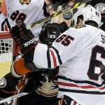blackhawks andrew shaw scores hard goal on ducks 2015 stanley cup playoffs