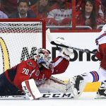 braden holtby protects his hole for capitals vs rangers stanley cup playoffs 2015