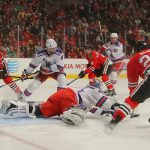brandon saad scores for blackhawks vs ducks stanley cup playoffs 2015