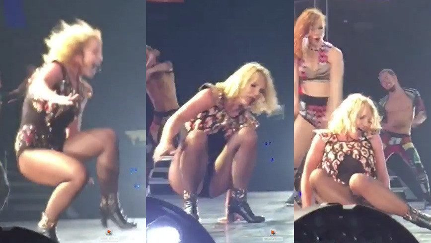 britney spears fall on stage 2015 gossip