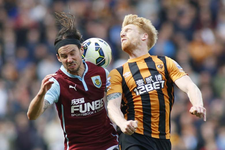 burnley beats hull city premier league 2015 soccer