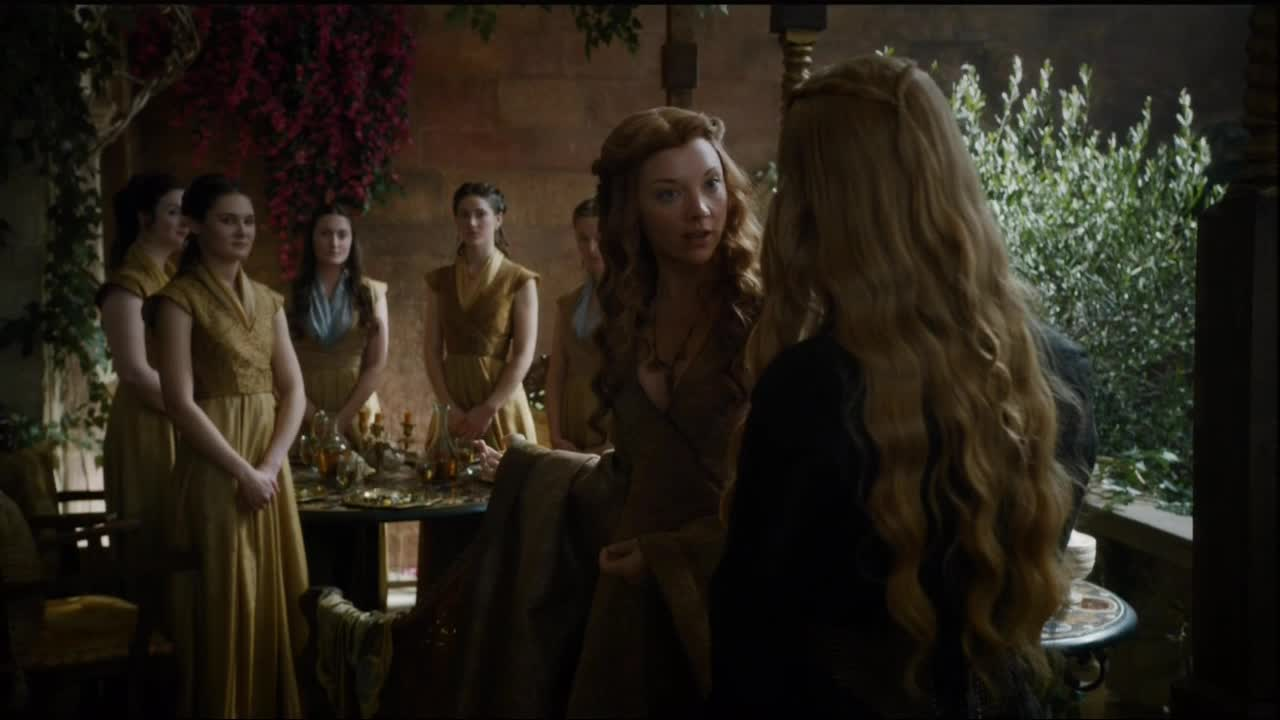 cersei with marg on game of thrones high sparrow 2015