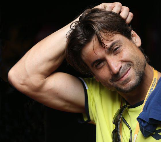 david ferrer bulging for 2015 madrid open tennis