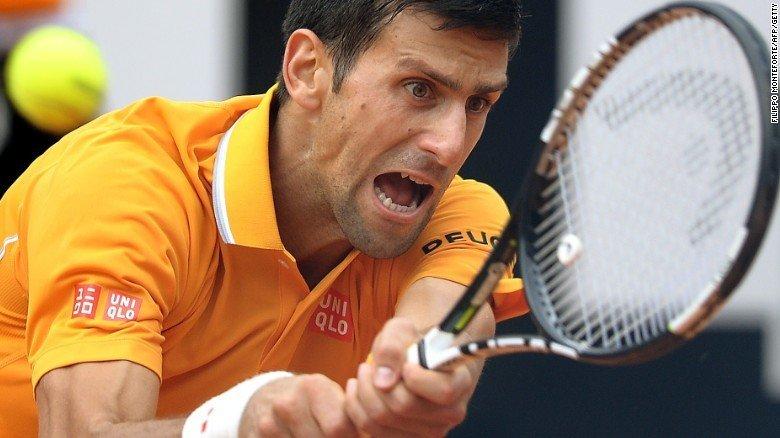 djokovic beats federer rome open 2015