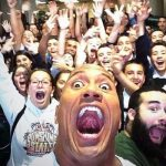 dwayne rock johnson selfie bulge record 2015 gossip