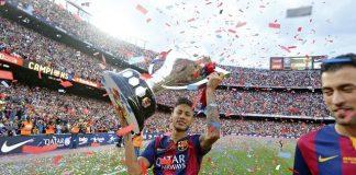 fc barcelona wins la liga title 2015 images