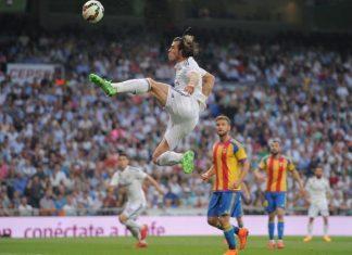 gareth bale high kick for real madrid draw with valencia la liga 2015