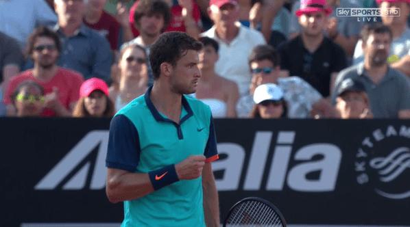 fabio fognini wins grigor dimitrov 2015 rome masters open