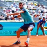 grigor dimitrov working balls for 2015 rome masters open