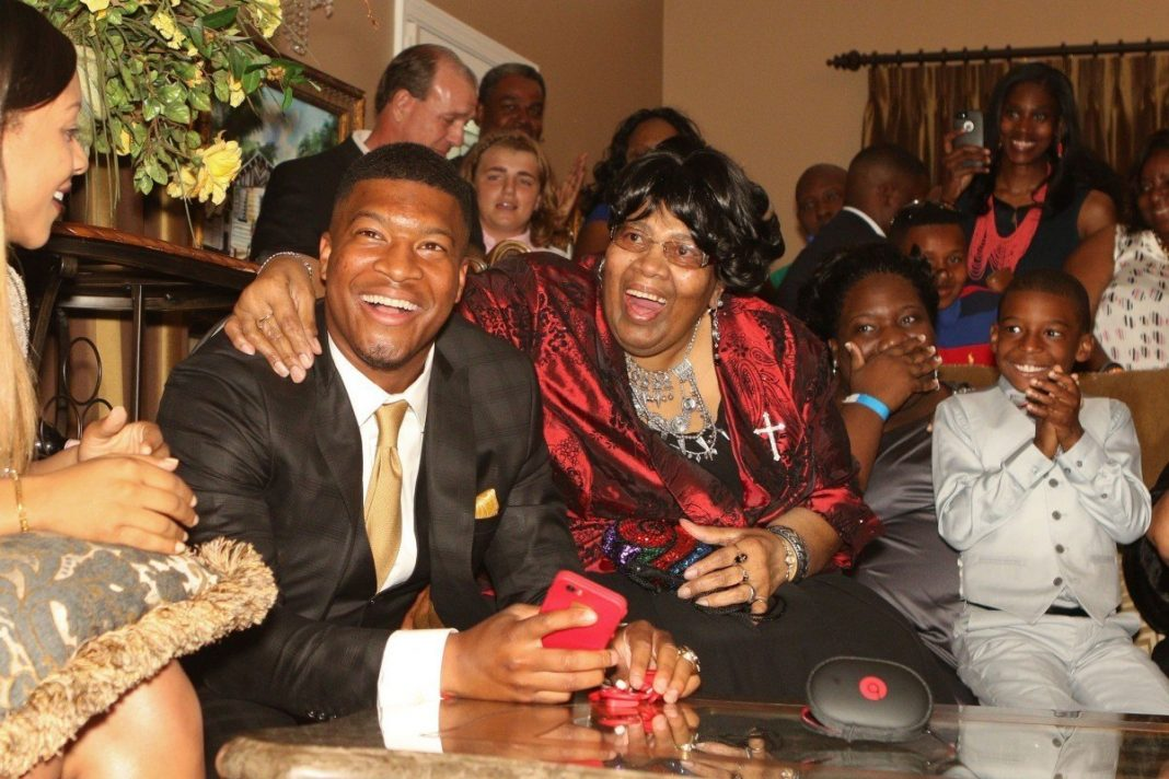 jameis winston nfl draft party at home 2015