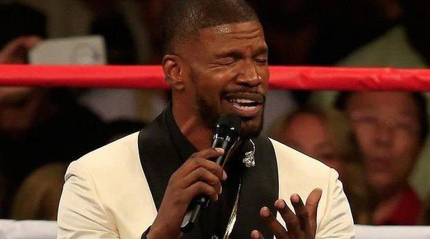 jamie foxx national anthem panned by everyone 2015 gossip